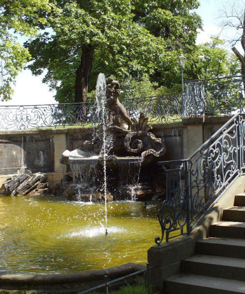 Brühlsche Terrasse: Delphinbrunnen, Pierre Coudray