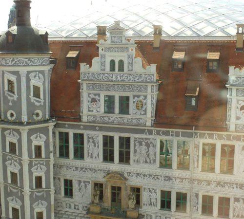 Sgraffitomalerei im Großen Schlosshof