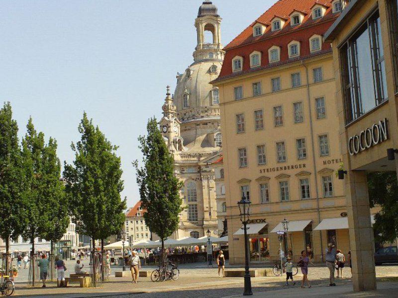 Frauenkirche - Blick von der Wilsdruffer Straße