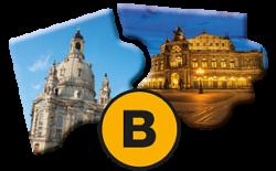 Tagesprogramm B Glanzlichter Dresdens: Stadtrundgang, Führung Neues Grünes Gewölbe und Semperoperführung