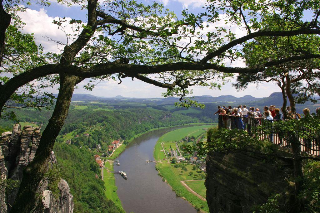 Sächsische Schweiz, Ausssichtsfelsen Bastei