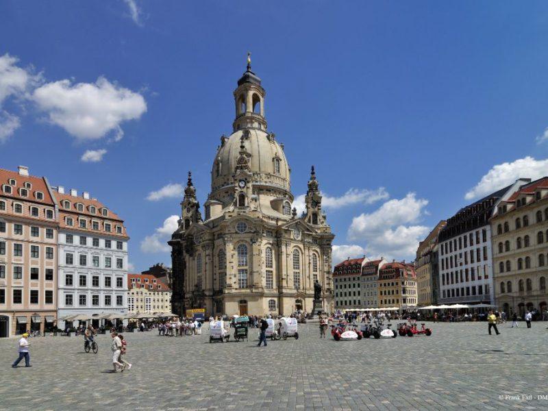 Frauenkirche Dresden und Neumarkt Dresden