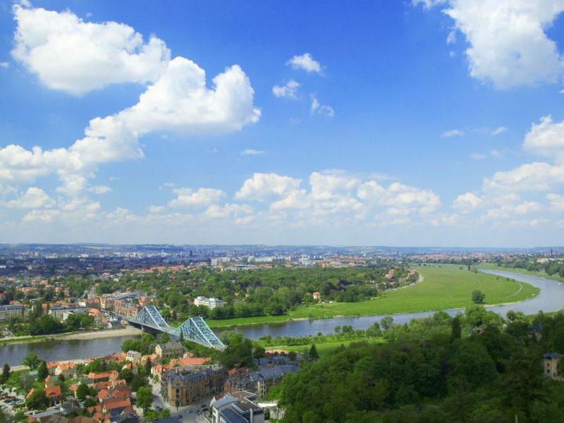 Dresdner Elbtal mit Blauem Wunder © Sylvio Dittrich - DML Lizenz