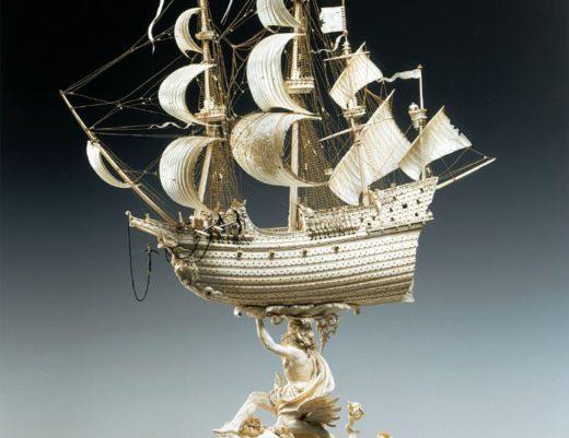 Große Fregatte aus Elfenbein © Staatliche Kunstsammlungen Dresden, Grünes Gewölbe, Jürgen Karpinski