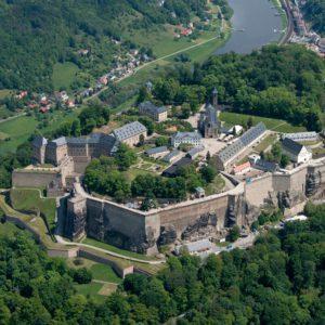 Die Festung Königstein in der sächsischen Schweiz, Foto: Bernhard Fischer
