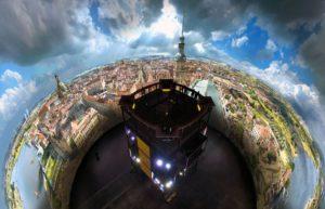 Dresden im Barock Vogelperspektive, Panorama bei Tag; Foto Tom Schulze, Asisi Panometer