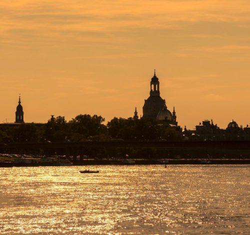 Silhouette Dresden - Abendaufnahme