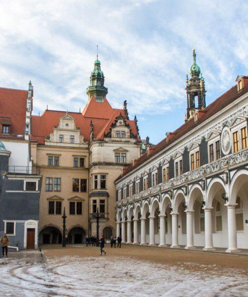 Stallhof und Georgenbau im Residenzschloss Dresden