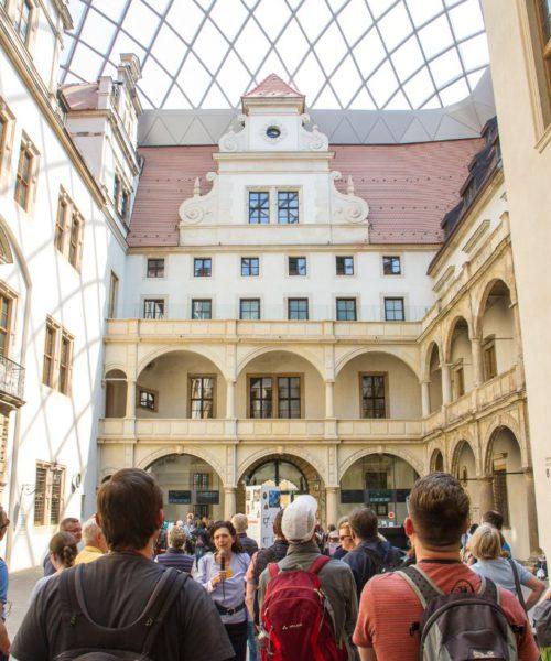 Im kleinen Schlosshof des Residenzschloss