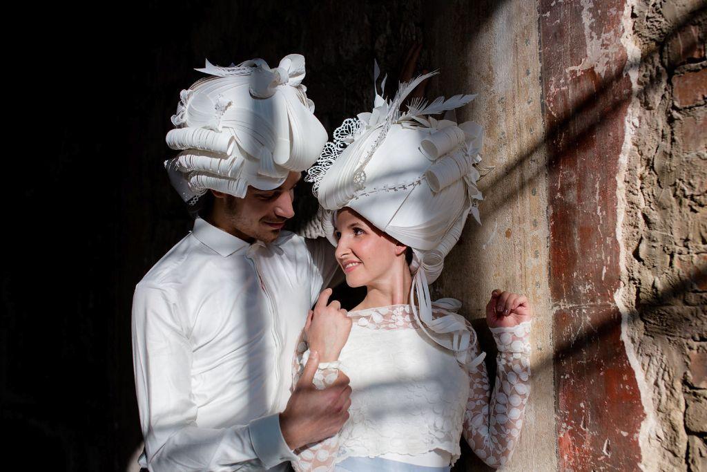 Paar in Weiß - 1719 reloaded Dresden feiert 300 Jahre Prinzenhochzeit © Dresden Marketing GmbH