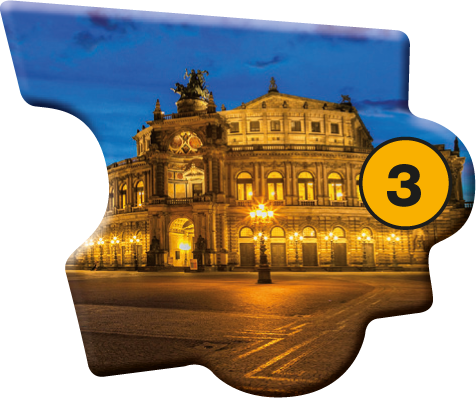 Puzzle Baustein 3: Führung Neues Grünes Gewölbe + Semperoper