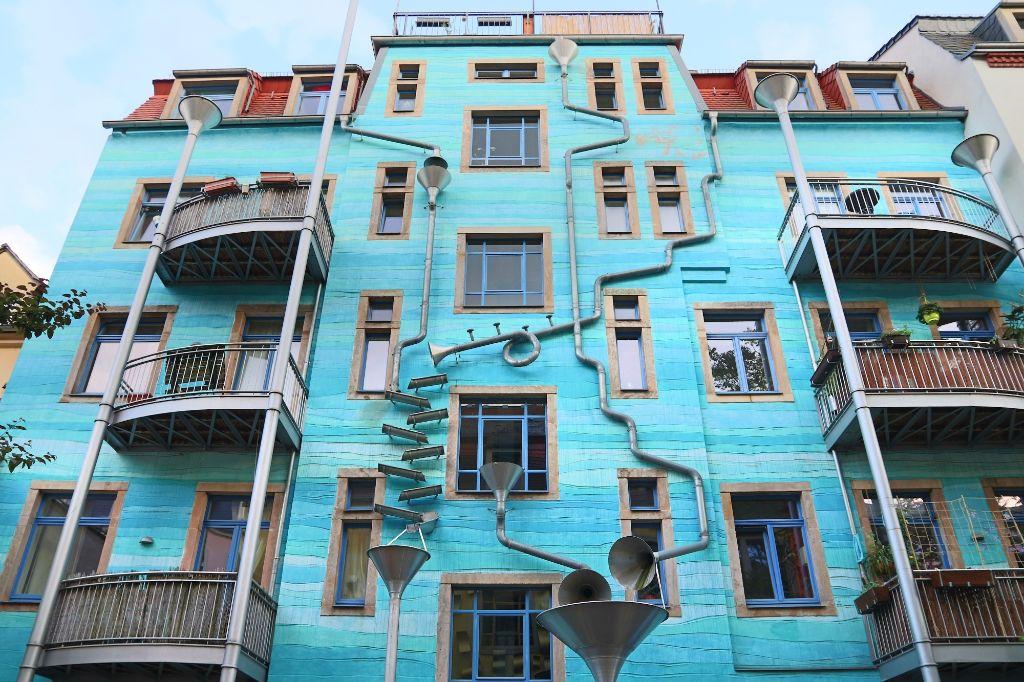Dresden Kunsthofpassage   Hundertwasserhaus Dresden   Gruppenführungen in Dresden-Neustadt