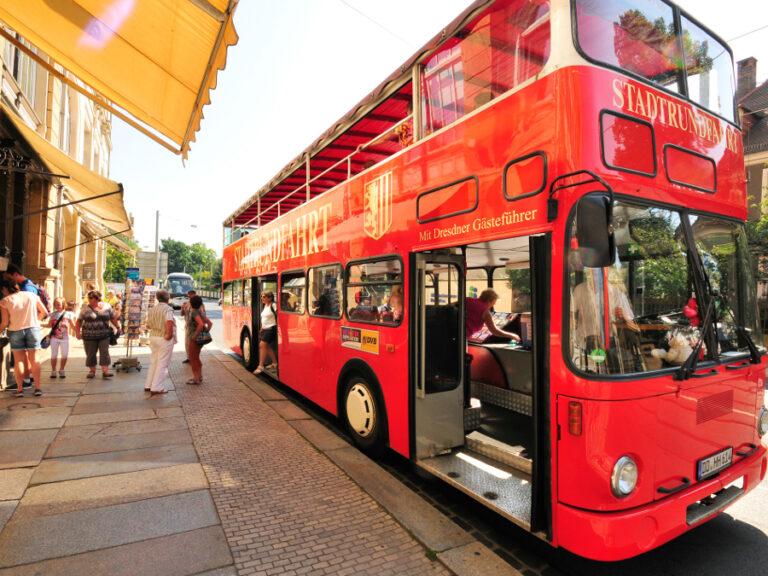 Stadtrundfahrt Dresden mit den Roten Doppeldecker