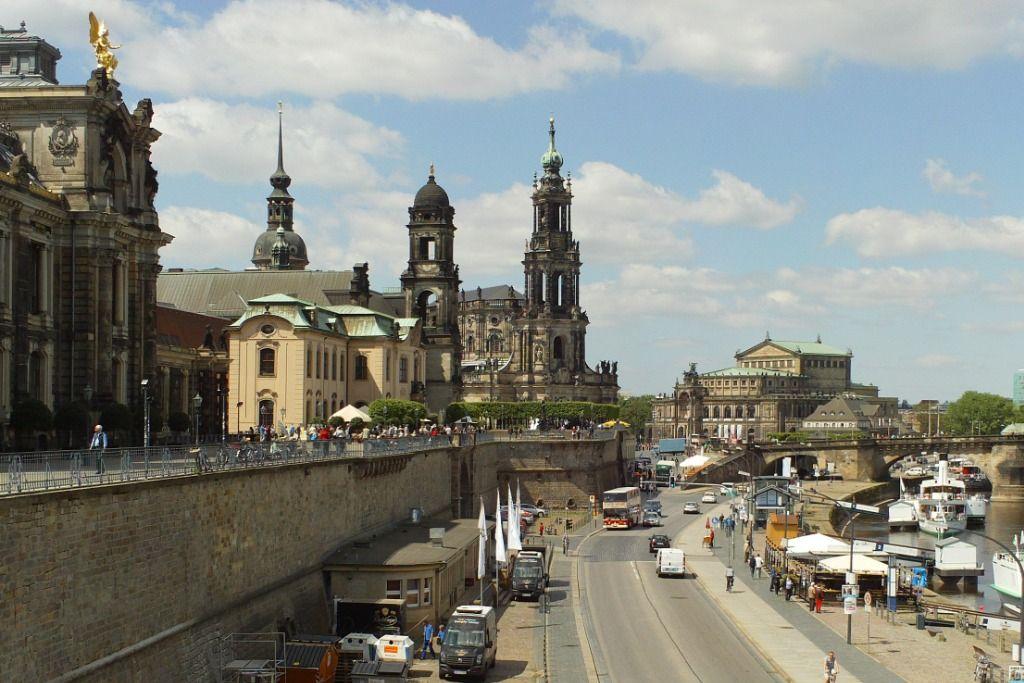 Stadtspaziergang Brühlsche Terrasse Dresden